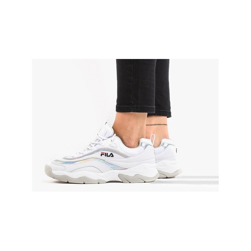 Fila Ray Low Woman White Silver FootLovers