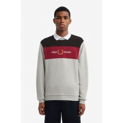 Fred Perry Embroidered Panel Sweatshirt