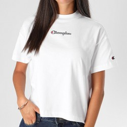 Champion Cropped Oversized Small Script Logo T-shirt
