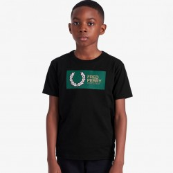 Fred Perry Printed Graphic T-Shirt - Black