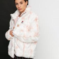 Fila Haruto AOP Fake Fur Jacket - White-Sepia Rose