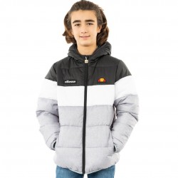 Ellesse Muscia Quilted Jacket - Black/Grey Marl - Junior