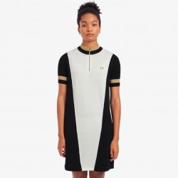 Fred Perry Panelled Knited Dress