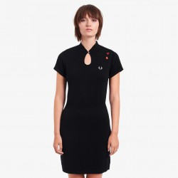 Fred Perry Keyhole Knitted Dress