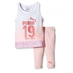 PUMA MINICATS GIRLS SET - WHITE/CRYSTAL ROSE