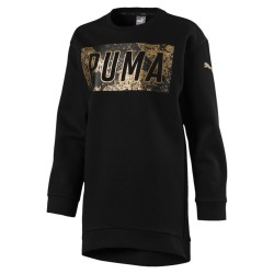 Puma Style Long Crew G Cotton Black (Kids)